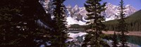 """Lake andf mountains, Alberta, Canada by Panoramic Images - 36"""" x 12"""""""