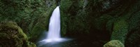 "Cascading waterfall in the Columbia River Gorge, Oregon, USA by Panoramic Images - 36"" x 12"""