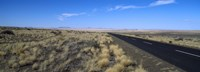 """Desert road passing through the grasslands, Namibia by Panoramic Images - 36"""" x 12"""", FulcrumGallery.com brand"""