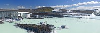Tourists at a spa lagoon, Blue Lagoon, Reykjavik, Iceland by Panoramic Images - various sizes - $32.49