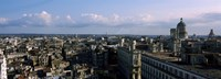 """High angle view of a city, Old Havana, Havana, Cuba (Blue Sky with Clouds) by Panoramic Images - 36"""" x 12"""""""