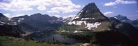 Lake surrounded with mountains, Bearhat Mountain, Hidden Lake, US Glacier National Park, Montana, USA by Panoramic Images - various sizes
