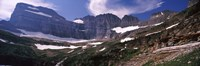 "Snow on mountain range, US Glacier National Park, Montana, USA by Panoramic Images - 36"" x 12"""