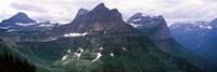 "Mountain range, US Glacier National Park, Montana, USA by Panoramic Images - 36"" x 12"""