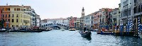 "Buildings at the waterfront, Rialto Bridge, Grand Canal, Venice, Veneto, Italy by Panoramic Images - 36"" x 12"""