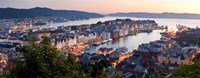 """Buildings in a city, Bergen, Hordaland County, Norway by Panoramic Images - 36"""" x 14"""""""