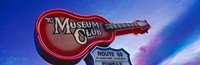 """Low angle view of Museum Club sign, Route 66, Flagstaff, Arizona, USA by Panoramic Images - 36"""" x 12"""", FulcrumGallery.com brand"""