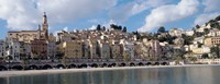 """Buildings at the waterfront, Menton, French Riviera, Alpes-Maritimes, Provence-Alpes-Cote D'Azur, France by Panoramic Images - 36"""" x 12"""""""