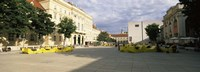 """Buildings in a city, Museumsquartier, Vienna, Austria by Panoramic Images - 36"""" x 12"""""""