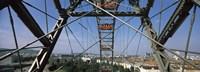 Ferris wheel frame, Prater Park, Vienna, Austria Fine Art Print