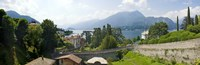 """Houses in a town, Villa Melzi, Lake Como, Bellagio, Como, Lombardy, Italy by Panoramic Images - 36"""" x 12"""""""