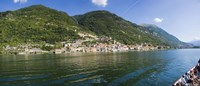 """Town at the waterfront, Sala Comacina, Lake Como, Como, Lombardy, Italy by Panoramic Images - 36"""" x 12"""""""
