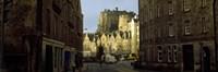 "Edinburgh Castle and street view, Edinburgh, Scotland by Panoramic Images - 36"" x 12"""