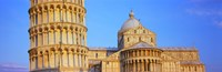 """Tower with a cathedral, Pisa Cathedral, Leaning Tower Of Pisa, Piazza Dei Miracoli, Pisa, Tuscany, Italy by Panoramic Images - 36"""" x 12"""" - $34.99"""