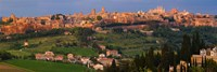 """High angle view of a cityscape, Orvieto, Umbria, Italy by Panoramic Images - 36"""" x 12"""", FulcrumGallery.com brand"""