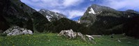"""Mountains in a forest, Mt Santis, Mt Altmann, Appenzell Alps, St Gallen Canton, Switzerland by Panoramic Images - 36"""" x 12"""""""