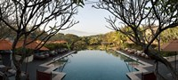 Infinity pool in a hotel, Four Seasons Resort, Chiang Mai, Chiang Mai Province, Thailand Fine Art Print