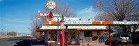 """Restaurant on the roadside, Route 66, Arizona, USA by Panoramic Images - 36"""" x 12"""""""