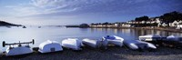 """Boats on the beach, Instow, North Devon, Devon, England by Panoramic Images - 36"""" x 12"""""""