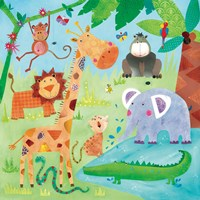 Jungle Friends II Fine Art Print