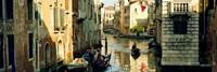 Boats in a canal, Castello, Venice, Veneto, Italy Fine Art Print