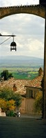 """Umbrian countryside viewed through an alleyway, Assisi, Perugia Province, Umbria, Italy by Panoramic Images - 12"""" x 36"""""""