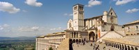 "Tourists at a church, Basilica of San Francisco, Assisi, Perugia Province, Umbria, Italy by Panoramic Images - 36"" x 12"""