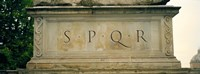 "SPQR Text carved on the stone, Piazza Del Campidoglio, Palazzo Senatorio, Rome, Italy by Panoramic Images - 36"" x 12"""