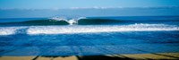 """Waves in the ocean, North Shore, Oahu, Hawaii by Panoramic Images - 36"""" x 12"""""""