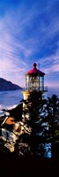 """Lighthouse at a coast, Heceta Head Lighthouse, Heceta Head, Lane County, Oregon (vertical) by Panoramic Images - 12"""" x 36"""""""