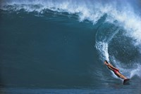 """Man surfing in the sea by Panoramic Images - 36"""" x 24"""", FulcrumGallery.com brand"""
