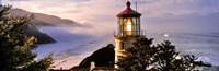 "Lighthouse at a coast, Heceta Head Lighthouse, Heceta Head, Lane County, Oregon (horizontal) by Panoramic Images - 36"" x 12"""