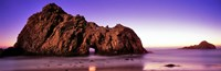 """Rock formations on the beach, Pfeiffer Beach, Big Sur, California, USA by Panoramic Images - 36"""" x 12"""""""