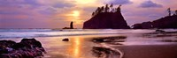 Sunset at Second Beach, Olympic National Park, Washington State Fine Art Print