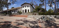 """Facade of a church, Mission San Luis Obispo, San Luis Obispo, San Luis Obispo County, California, USA by Panoramic Images - 36"""" x 12"""""""