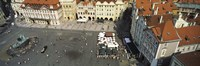 """High angle view of buildings in a city, Prague Old Town Square, Prague, Czech Republic by Panoramic Images - 36"""" x 12"""""""