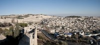 "House on a hill, Mount of Olives, and City of David, Jerusalem, Israel by Panoramic Images - 36"" x 16"""