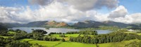 """Hill and lake, Derwent Water, Keswick, English Lake District, Cumbria, England by Panoramic Images - 36"""" x 12"""""""