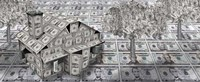 Dollar house with money tree Fine Art Print
