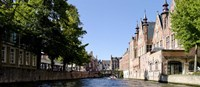 """Canal in Bruges, West Flanders, Belgium by Panoramic Images - 36"""" x 12"""""""