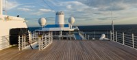 """Cruise ship deck, Bruges, West Flanders, Belgium by Panoramic Images - 36"""" x 12"""", FulcrumGallery.com brand"""