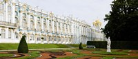 """Formal garden in front of a palace, Tsarskoe Selo, Catherine Palace, St. Petersburg, Russia by Panoramic Images - 36"""" x 12"""""""
