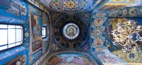 Interiors of a church, Church of The Savior On Spilled Blood, St. Petersburg, Russia Fine Art Print