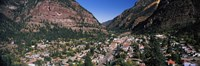 "Houses in a town, Ouray, Ouray County, Colorado, USA by Panoramic Images - 36"" x 12"""