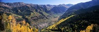 High angle view of a valley, Telluride, San Miguel County, Colorado, USA Fine Art Print