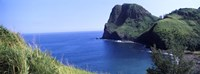 """High angle view of a coast, Kahakuloa, Highway 340, West Maui, Hawaii, USA by Panoramic Images - 36"""" x 12"""", FulcrumGallery.com brand"""