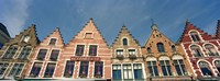 "Low angle view of gabled houses, Bruges, West Flanders, Flemish Region, Belgium by Panoramic Images - 36"" x 12"""