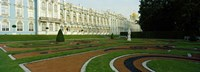 "Formal garden in front of the palace, Catherine Palace, Tsarskoye Selo, St. Petersburg, Russia by Panoramic Images - 36"" x 12"""