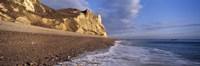 Surf on the beach, Hooken Beach, Branscombe, Devon, England Fine Art Print