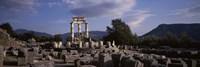 Ruins of a temple, The Tholos, Delphi, Greece Fine Art Print
